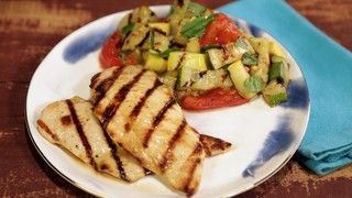 Michael's Lemon-Rosemary Grilled Chicken with Charred Vegetable Salad