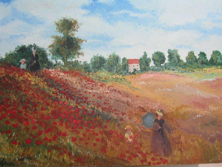 """""""I papaveri di Monet"""" olio su tela... scopri la mia arte su http://www.arch-garden.it/la-mia-arte.html"""