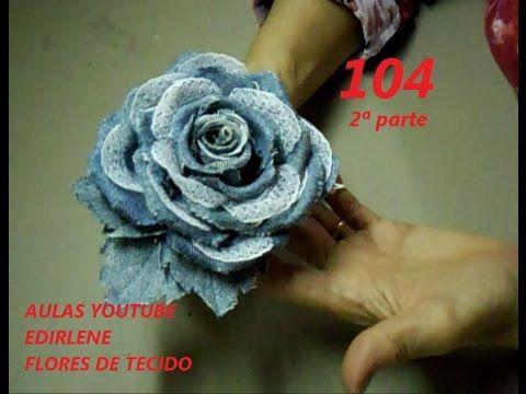AULA 104 - ROSA JEANS COM RENDA - 2ªPARTE - YouTube