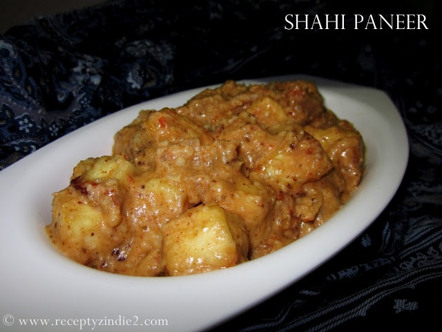 Recepty z Indie II.: Shahi Paneer