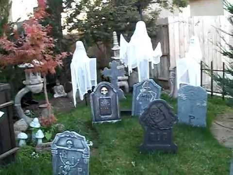 mudspiders yard haunt 2009 halloween youtube