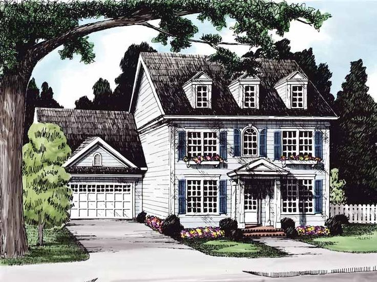 Eplans georgian house plan stately colonial two story for Stately house plans