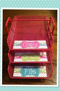 Ikea Dokument tray as a Grade Copy File Organizer! #mondaymadeit Pretty Pretty Primary