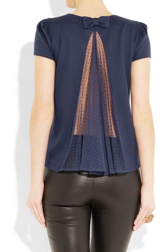 Suéteres, camisetas y encajes, alteraciones - Crafts