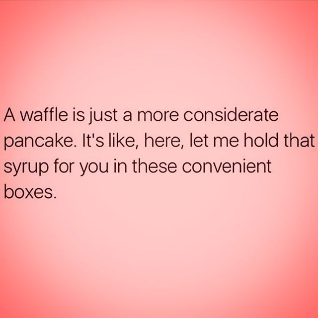 "<span class=""emoji emoji1f602""></span> #waffle #pancake #meme #funny #humor #wednesday #breakfast #carbs #carbload #eattogrow ..."
