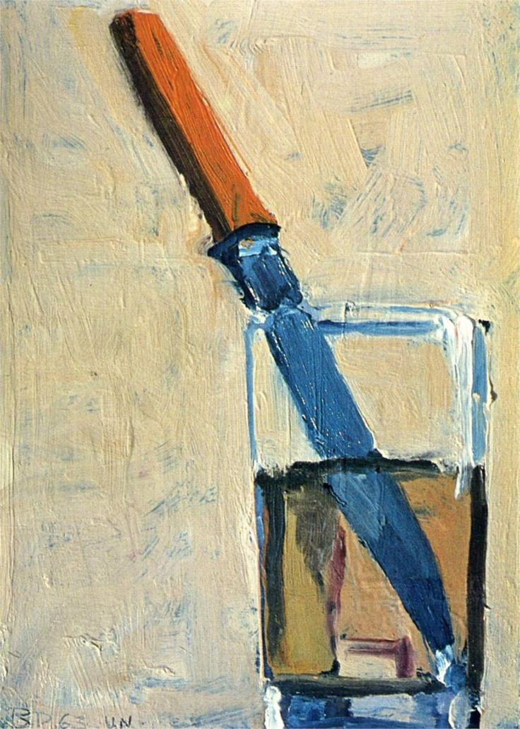 Richard Diebenkorn Knife and Glass: would love to use this as the cover of an Emilia Cruz novel!