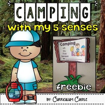 Have students experience the world of camping using all of their five senses! This camp theme freebie includes:1. Camp sign template2. 5 senses mini book pages3. Creative writing sheets {camp theme printable paper}Detailed directions and pictures for making this craftivity are also included!