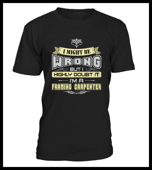 T shirt Framing Carpenter front (*Partner Link)
