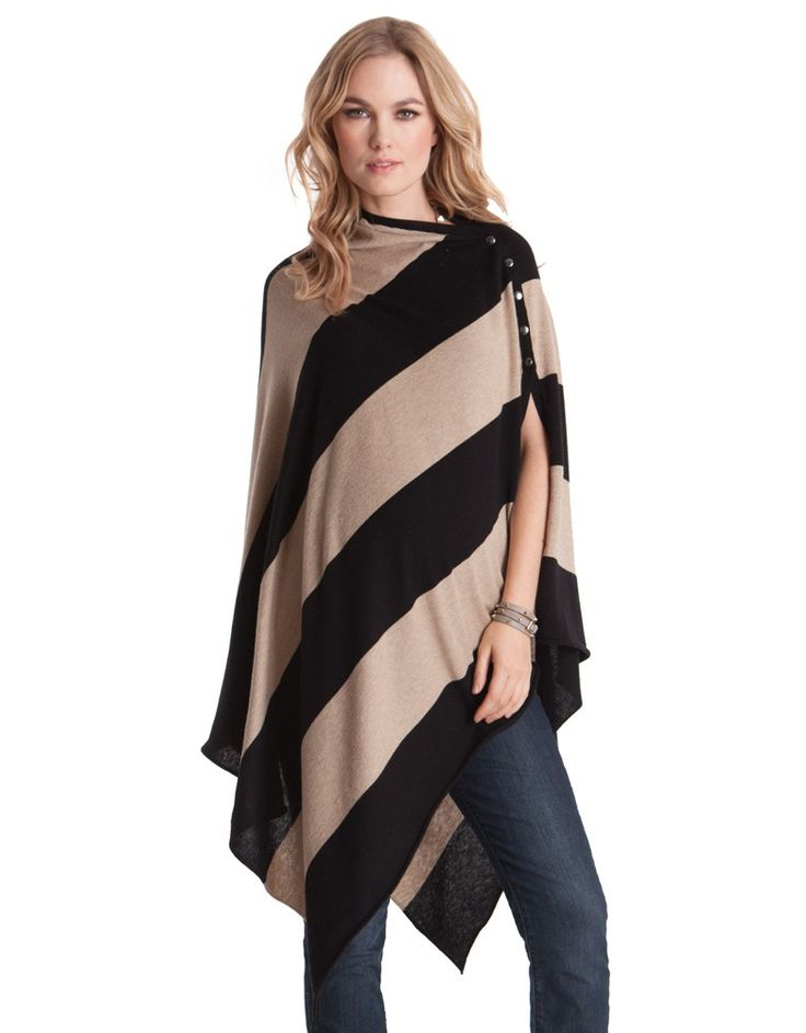 <ul> <li>Ultra soft and cosy bamboo wool blend</li> <li>Poppers for fastening at the shoulder</li> <li>Versatile style – multiple ways to wear</li> </ul> <p>Nursing on the fly is no problem at all - our stylish nursing shawl in an edgy diagonal stripe has got you and your baby covered! We've blended the very softest hypoallergenic bamboo fiber with natural wool and cotton to create this cozy shawl, to keep you and baby warm, while allowing skin to breathe – perfect for discreet breastfeeding…