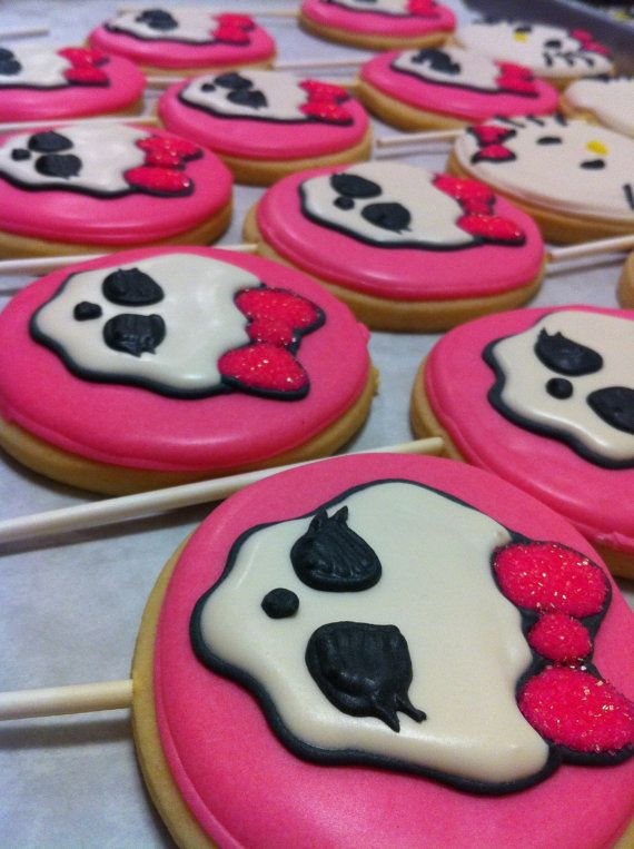 Monster High birthday party, Decorated Sugar Cookies 1 Dozen 12 by PalmBeachPastry, $39.00