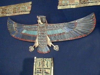 "#256b. Ba bird and ""external trappings of the Mummy."" KV 62 Tutanchamun"