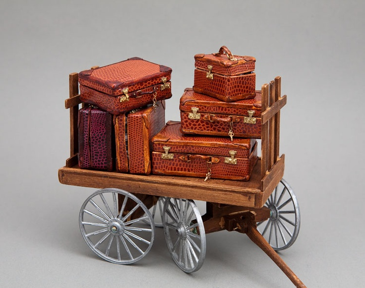 Handcrafted miniature luggage