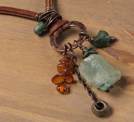 rough amber necklace - Google Search