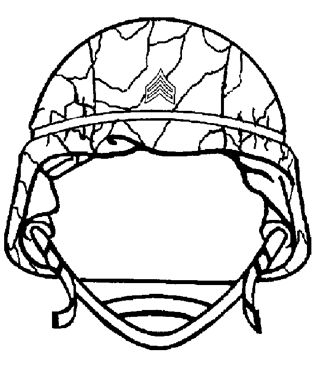 army helmet coloring pages - photo#1