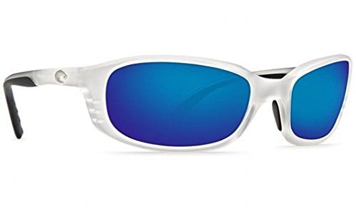 Costa Del Mar Sunglasses - Brine- Glass / Frame: Matte Crystal Lens: Polarized Blue Mirror Glass Wave 580