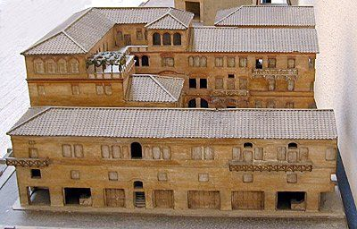 Model of a Roman apartment building or Insula