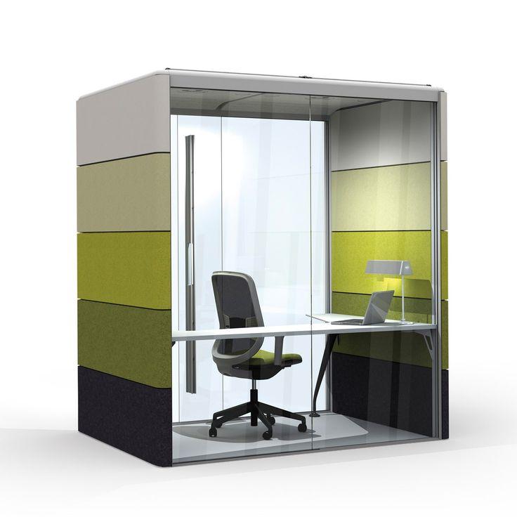 Air3 Acoustic Mini Office Pod | Orangebox  http://www.apresfurniture.co.uk/orangebox-furniture/orangebox-air3-minipod-20  | Privacy Pod | Pinterest | Mini ...