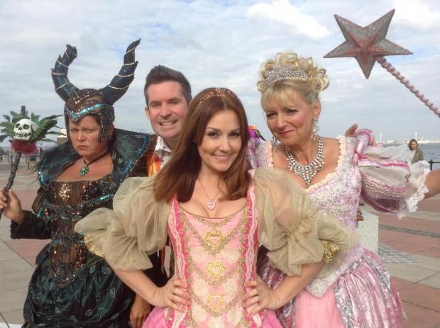 Vicky Entwistle, Adam Moss, Amy Thompson and Sarah Jane Buckley during launch of 'Sleeping Beauty' in New Brighton this afternoon. Picture: Craig Manning