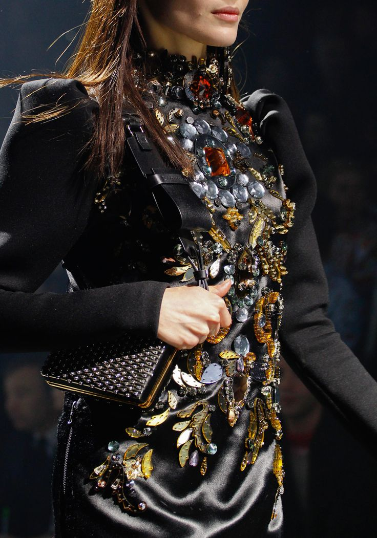 Lanvin's jeweled details. Paris FW