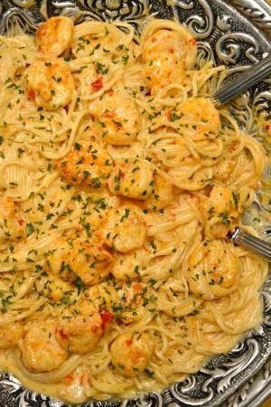 Bang Bang Shrimp and Pasta.