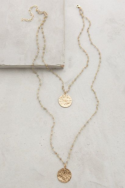 Oloron Layered Necklace by Heather Hawkins #anthroregistry This is so pretty.