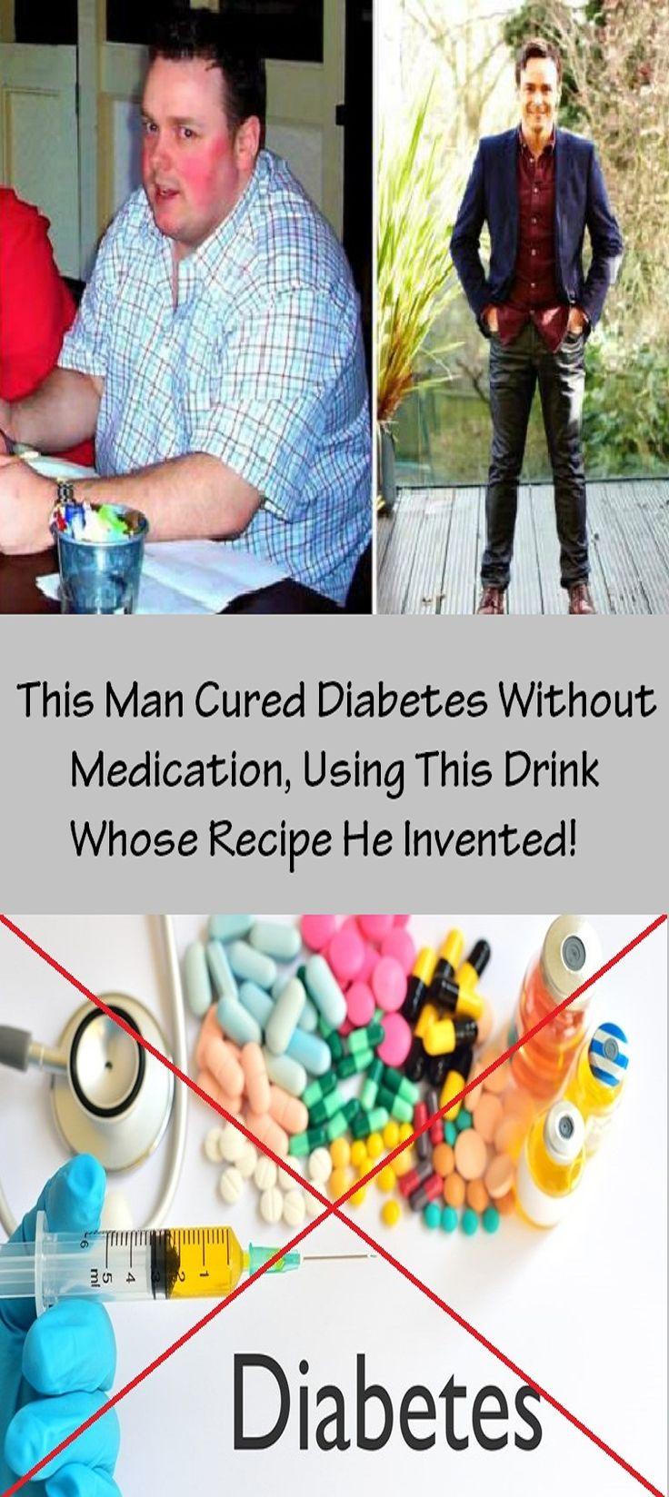 This Man Cured Diabetes Without Medication, Using This Drink Whose Recipe He Invented!