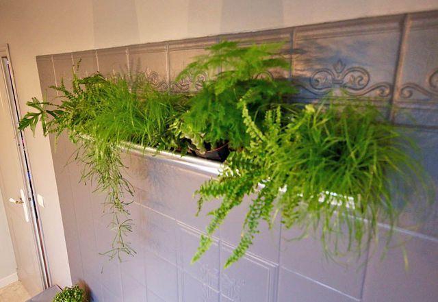 L'astuce déco d'Aurélie Hémar : relooker une salle de bains soi-même    jardiniére goutiére