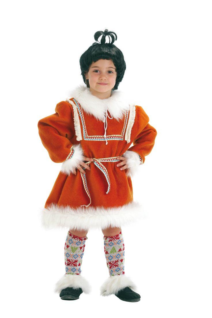 disfraz infantil de esquimal nia talla aos santa