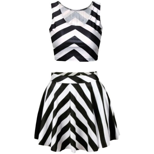 Black and White Strip Corset Dresses ($20) ❤ liked on Polyvore