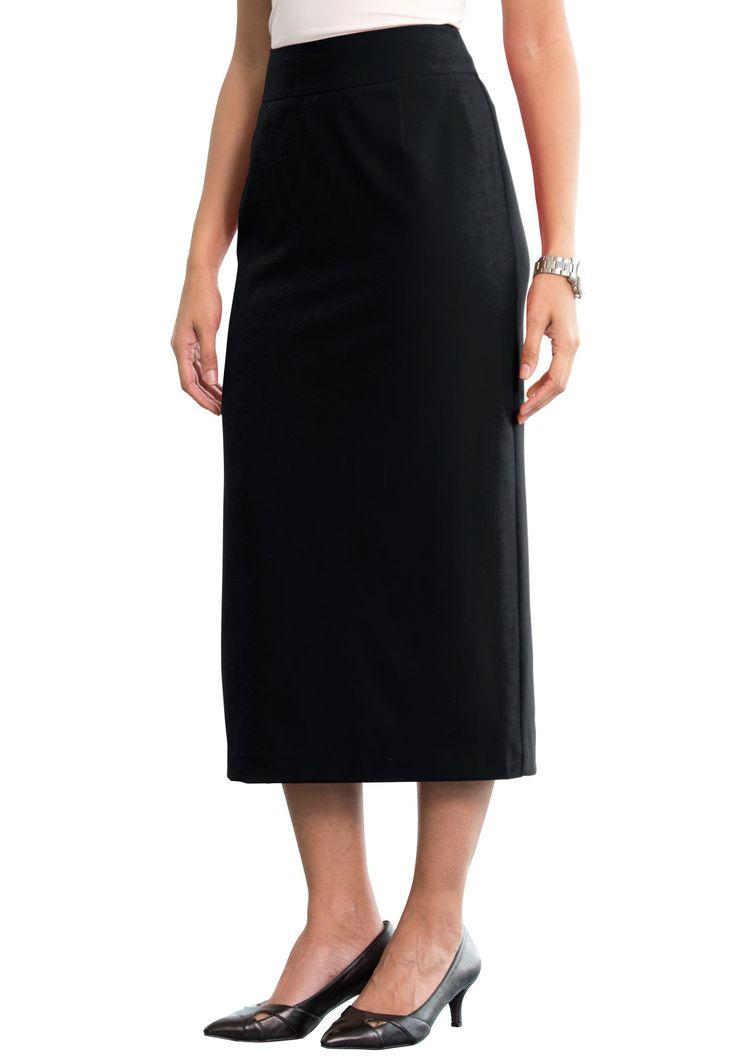 Plus Size Bi-Stretch Long Suit Skirt