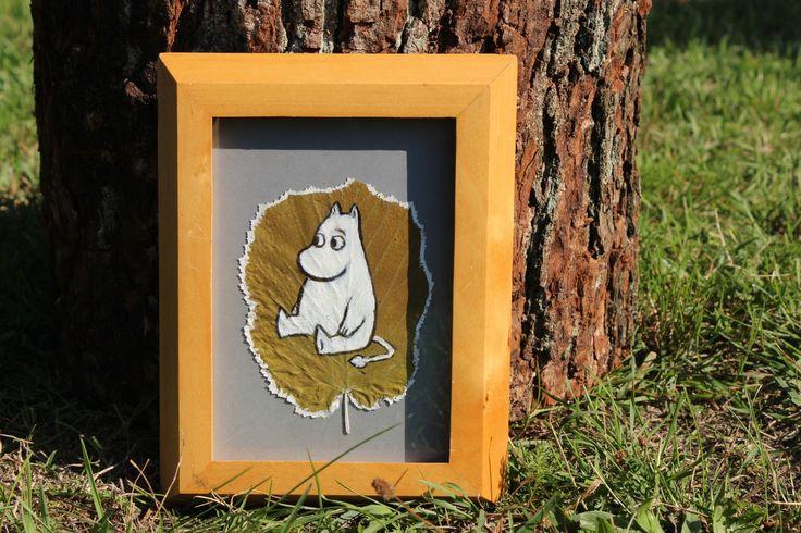 Muminki malowane na jesiennych liściach <3  By Elżbieta Olszewska