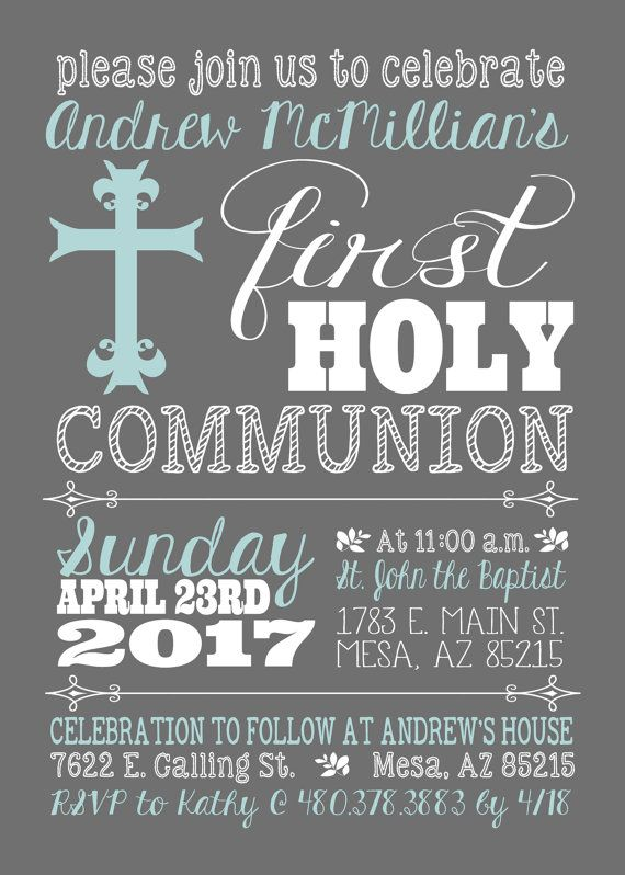 This listing is for the above First Holy Communion digital invitation file for a boy or a girl (see color variations in listing photos). You can