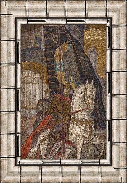 Мозаика «Александр Невский». 1951. Смальта, мрамор, мозаика