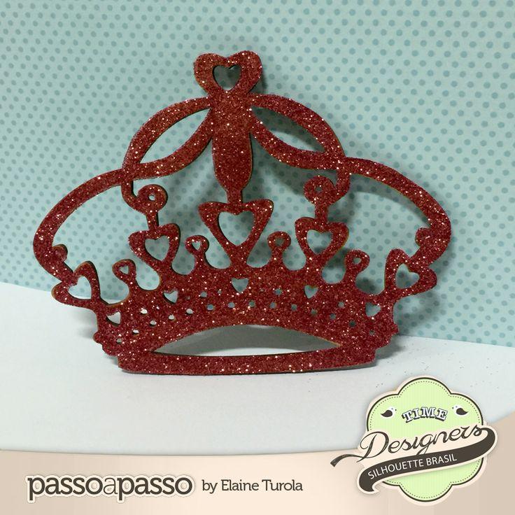 Coroa MDF decorada | Silhouette Brasil - Blog