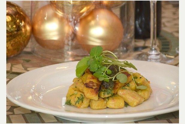 Recipe: Sweet potato gnocchi with cranberry and walnut pesto