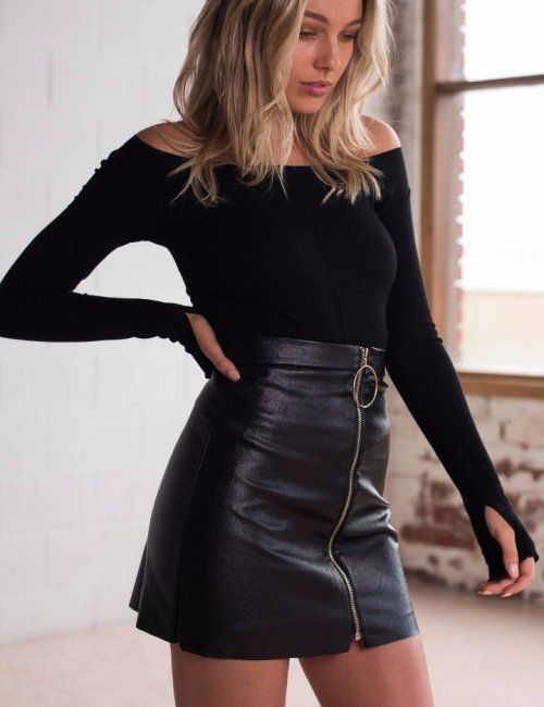69d89168a0 Women's Party Punk Leather Mini Skirt | Stylish outfit ideas for women who  follow fashion.