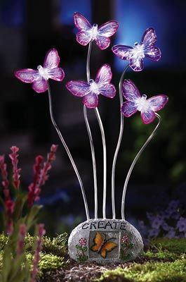 Solar Powered Fluttering Butterflies Garden Decor