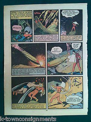 SHAZAM! Mr. MARVEL vs MAGNIFICUS VINTAGE 1970s SUPERHERO COMIC BOOK ART POSTER