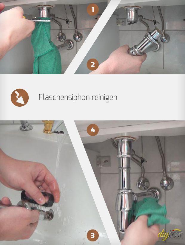 Waschbecken Siphon Reinigen Der Flaschensiphon Waschbecken