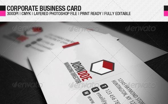 Desain Kartu Nama Perusahaan - Corporate Business Card