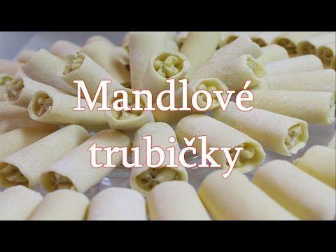 Mandlové trubičky / Helenčino pečení - YouTube