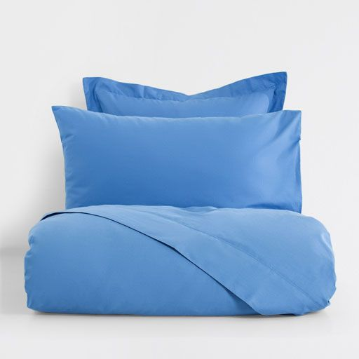 Image of the product Basic light blue percale bed linen