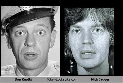 Don Knotts Totally Looks Like Mick Jagger | Mick jagger ...