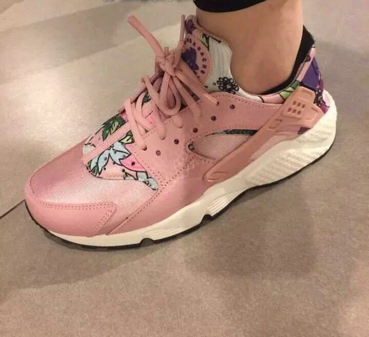 5f1a75037a9b81 Nike Air Huarache I EURO 36-40 Womens Shoes Pink Flower April 2018 New  Arrival