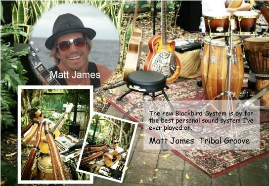 Matt James blends tribal roots and a variety of musical genres with his didgeridoo and a range of other instruments. He spent a 5 year residency at Steve Irwin's Australia Zoo. This busy musician gives his AT system high marks! #personalsoundsystem #ATProfessional