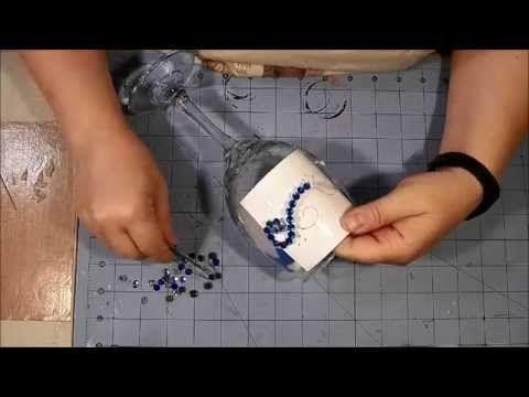 Wine Glass Embellishment Tutorial - Bling! - YouTube