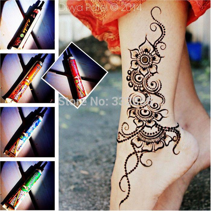 Высокого класса временный орган краска крем индийский менди хна тату вставьте без боли искусство татуировки Multicolors PPD нет вредных химических веществ купить на AliExpress