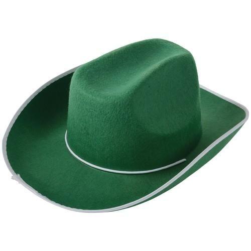 d6a83f202a8 Cowboy Hat - Green Felt Cowboy Hats
