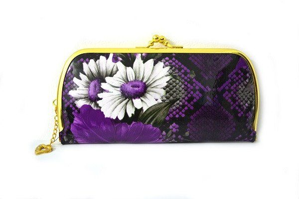 Slim  Purple Clutch