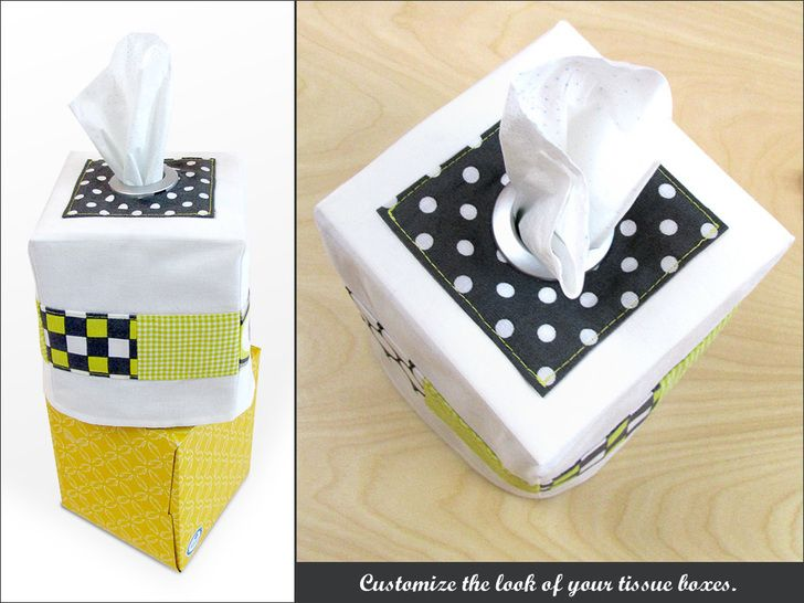 14 best d cor images on pinterest sewing sewing ideas for Tissue box cover craft